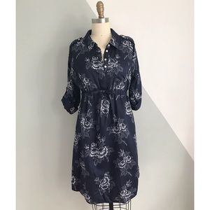 Gap Floral Maternity Shirt Dress — size Medium